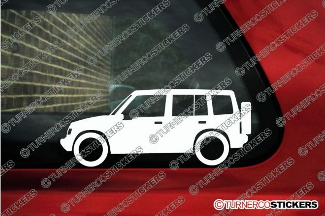 2x Suzuki Sidekick / Vitara 5-Door Hardtop (1989-1998) 4x4 outline stickers